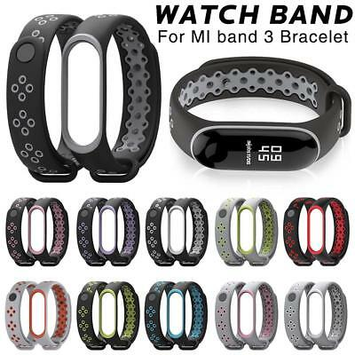 Strap Band Silicone Wristband Watch Replacement Bracelet For Xiaomi Mi Band 3 Uk