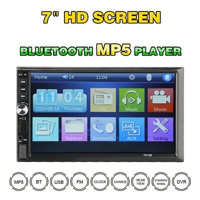 7inch 2DIN Car MP5 Player Bluetooth Touch Screen Stereo Radio + HD 1080P Camera