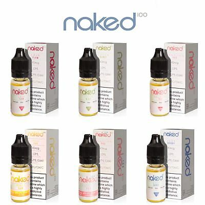 Naked 100 Premium Flavours 3 ,5 x 10ml Pack 3,6,12mg Vape E liquid juice TPD