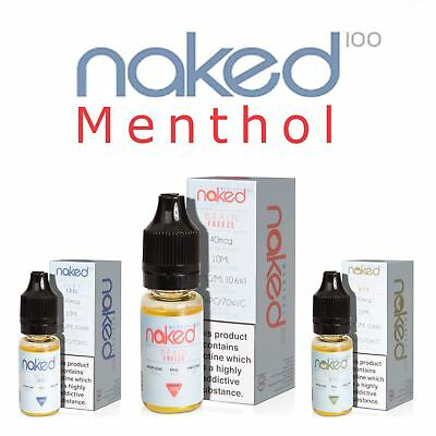 Naked 100 New Manthol Flavours 3,5 x 10ml pack eLiquid Vape juice Premium TPD