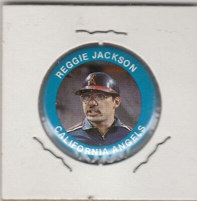 1984 Fun Foods Pin Back Button Angels Reggie Jackson Lot of 2