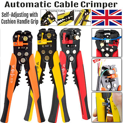 Automatic Cable Wire Crimper Crimping Tool Stripper Adjustable Plier Cutter 247h