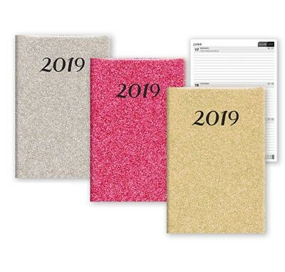 2019 A6 Week To View Diary Glitter Fashion Home Office WTV W2V Work Student