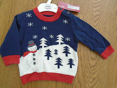 BNWT Baby boy Christmas jumper from M&S. 3-6 months.