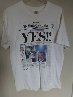 e877e8a83e5 Vintage 1993 NEW NFL Team Jacksonville Jaguars Newspaper Collectors Ed. T- Shirt