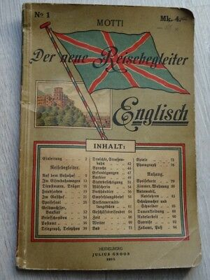 German Wwi Prussian Original Soldaten Dictionary Book  1915 War Relic Very Rare