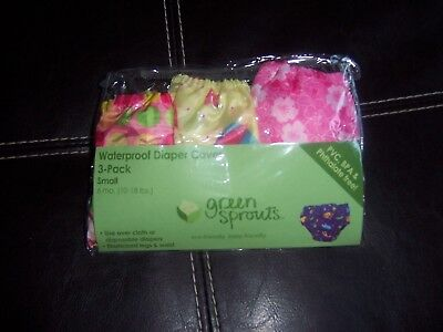 green sprouts waterproof cloth diaper cover size small 6 months new  pinks