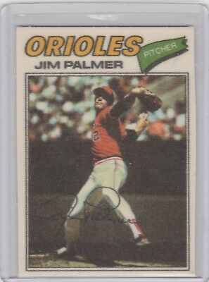 1977 Topps Cloth Stickers #36 Jim Palmer Orioles