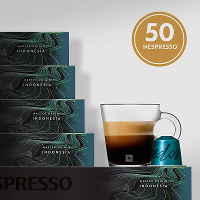 NESPRESSO NEW MASTER ORIGIN INDONESIA | NEW FLAVOUR | 5 sleeves | 50 capsules
