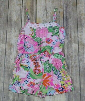 Lilly Pulitzer For Target Romper Girls Size XL 14-16 Nosie Posey Floral Pink