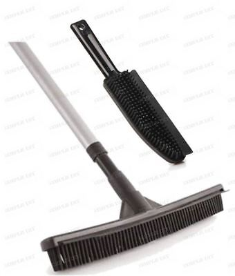 Rubber Broom Brush Set Pet Hair Remover Lint Hand Brush Rubber Sweeping Broom