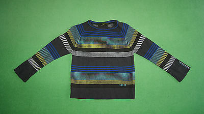 Ted Baker grey blue yellow jumper cardigan for boy age 4 years 104 cm