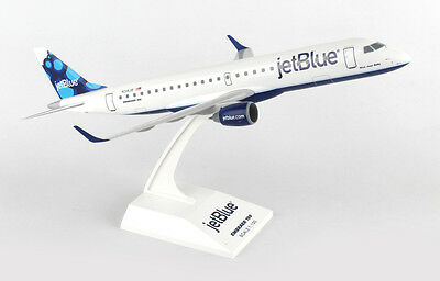 Skymarks Skr851 1/100 Jet Blue Blueberies Embraer E190 Display Model Airplane