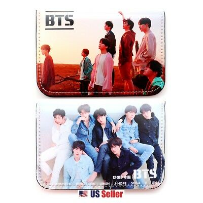 KPOP BangTan Boys BTS Faux Leather Card Holder Wallet : Type G