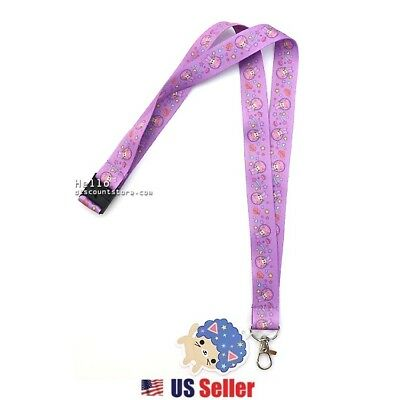 Afro Cat Pastel Hearts Kawaii Lanyard with Easy Metal Hook : Afro Cat In Space