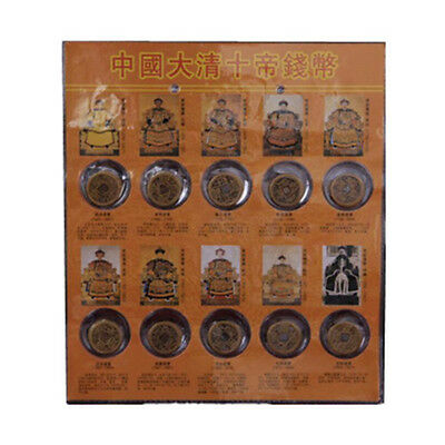 10Pcs/Set Ten Emperors Coins Chinese Copper Coin Old Dynasty Antique Currency