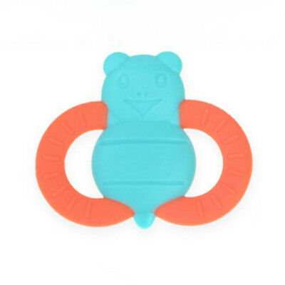 Creative Safety Baby Soft Silicone Bee Shape Teether Chewable Teething Toy LH