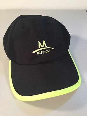 Mission Enduracool Black/Day-Glo Green Performance Cooling Strapback Hat/Cap