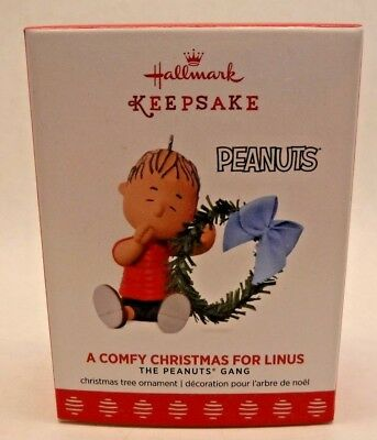 2017 Hallmark Keepsake Ornament A COMFY CHRISTMAS FOR LINUS The Peanuts Gang