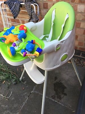 Keter Multi Dine 3in1 Baby Highchair Infant Feeding Seat Toddler Table Chair Set