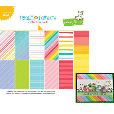 Lawn Fawn 12x12 Paper Pack - Really Rainbow LF1656