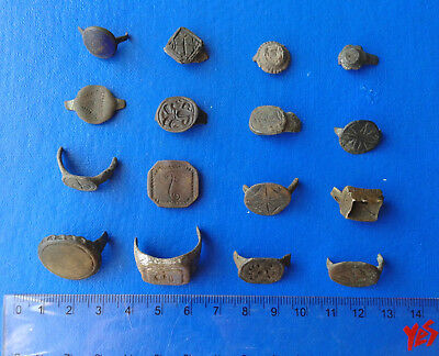 Fragments Ancient Bronze Rings. 16 pieces.