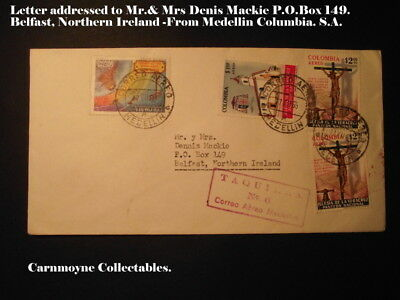 Letter Addressed to Mr.& Mrs. Mackie P.O.Box 149 Belfast N.Ireland.c1965.AH0281.