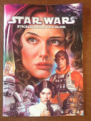 Dalmation Press Star Wars Sticker Book To Color 2011 Never Used, Queen Amidala
