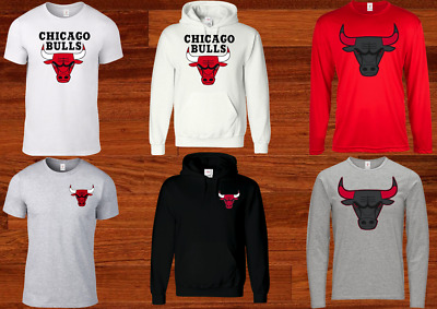 Chicago Bulls T Shirt Hoodie Basketball Plus Sizes S-5Xl Tee 5A