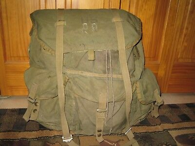 Vintage US Military COMBAT FIELD PACK Nylon Backpack LC-1 ALICE Happy Penguin