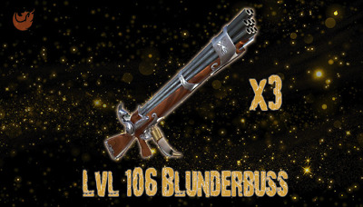 Fortnite: STW - LVL 106 Blunderbuss [3 GUN SET][GOD ROLLED]