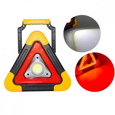 Triangle D'Urgence Stradale A LED Recharge Solaire USB Secours Voiture Moto