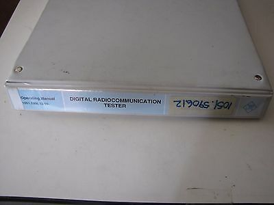 Digital Radiocommunication Tester Operating Manual 1051.5906.12.10-