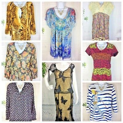 Women's Clothing Lot Resell Shirts Blouse Tops SMALL & LARGE 8 Piece Lot