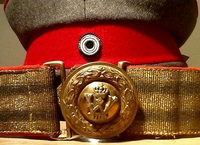 Imperial German, WW1, VERY RARE, Prussian General's Brocade Dress Belt & Buckle