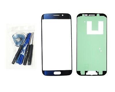 Black Sapphire Blue front glass lens replacement Tool Fit Galaxy S6 EDGE G925