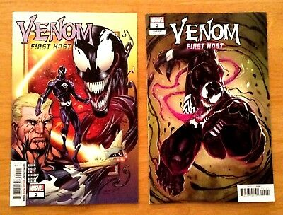 Venom First Host 2 Covers A & B Mark Bagley ~ Rod Reis Covers Marvel 2018 NM
