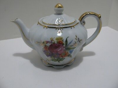 """Vintage Tilso Musical Teapot - Plays """"Tea For Two"""" Floral Design, Made in Japan"""