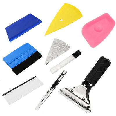 8in1 Squeegee Car Window Tinting Auto Film Install Wrapping Applicator Tools New