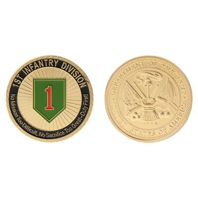 Commemorative Coin 1th Infantry Division US Army Collection Arts Gifts Souvenir