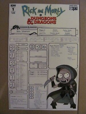 Rick and Morty vs Dungeons & Dragons #1 Oni IDW 2018 Series Sub Variant 9.6 NM+