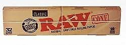 32 Pieces Raw Prerolled  Paper Cones 1 1/4 Size 1 Box Raw Rolling Paper cones