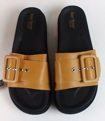 544a4aa367c Henry Ferrera Collection Women s Brown Footbed Sandals Size EU 41
