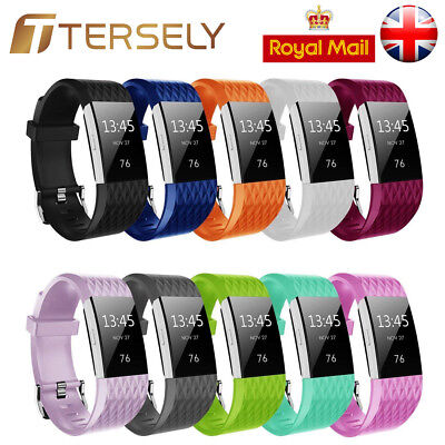 Replacement Wrist Straps Wristbands Silicone Watch Bands fits Fitbit Charge 2