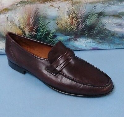 Allen Edmonds Bergamo Loafer Casual Dress Shoes Mens 10.5 B Style 49070  Oxblood 54adf0ee33e