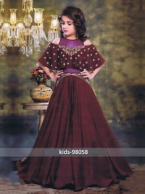INDIAN TRADITIONAL KIDS wear girls dress frock designer gown for ...