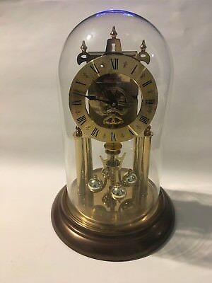 Vintage Elgin 400 Day Anniversary Clock with S Haller Movement Runs Well Clean