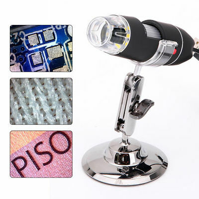 50x-500X 2MP 8LED Light USB Endoscope Video Camera Digital Microscope Magnifier