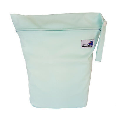 Light Green Large Zip Dry & Wet Bag - Baby Cloth Nappies, Waterproof