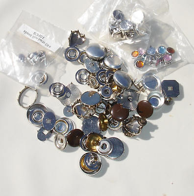 Random Mixed lot of Metal  - Rhinestone Nail Heads and Studs Lot - Sewing Crafts
